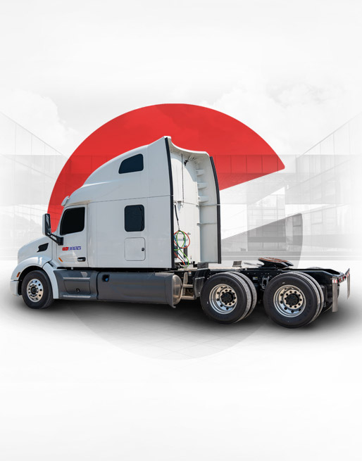 Owner Operator - Truck in front of a bridge
